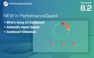 Release: What's Going on Dashboard in PerformanceGuard 8.2